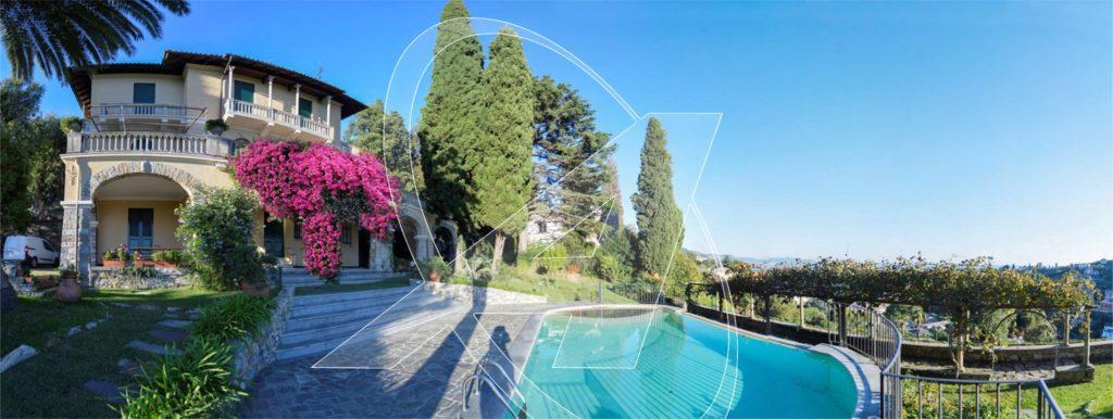 San Michele: affitto villa vista mare con piscina