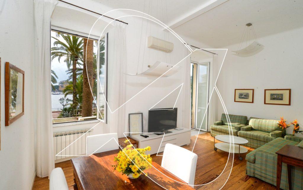 Rapallo: splendido appartamento in affitto sul lungomare