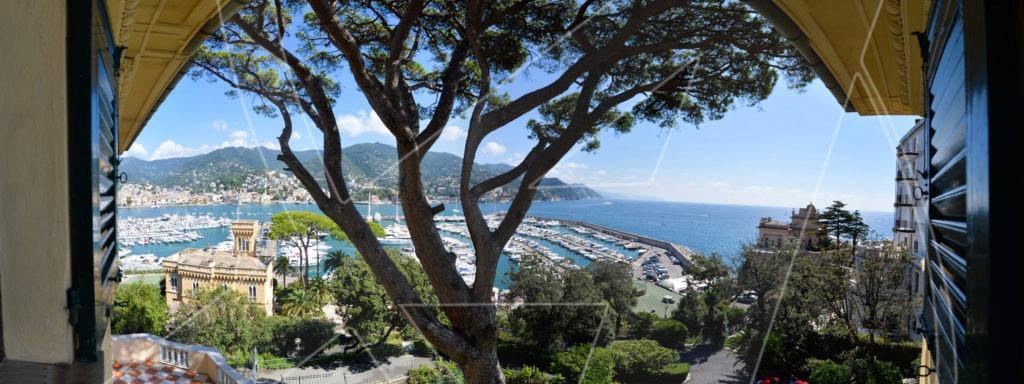 RAPALLO Excelsior elegante appartamento in affitto in villa vista mare