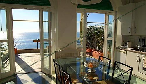 ZOAGLI Affitto in villa a picco sul mare con spiaggia privata