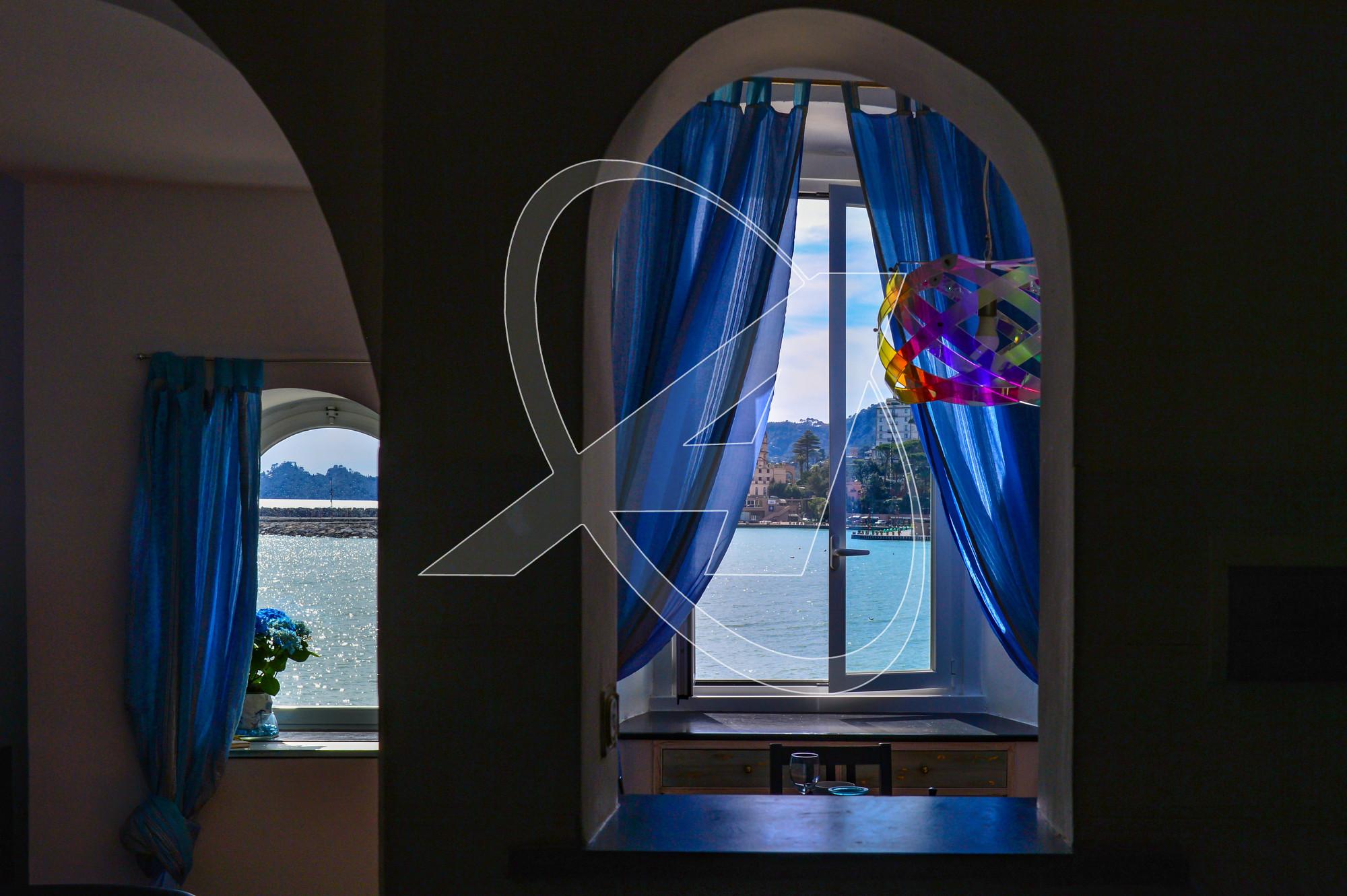 Splendido appartamento fronte mare in affitto - Soggiorno